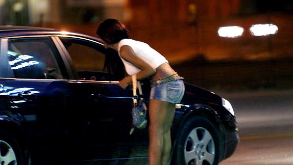 auto blu e prostituta